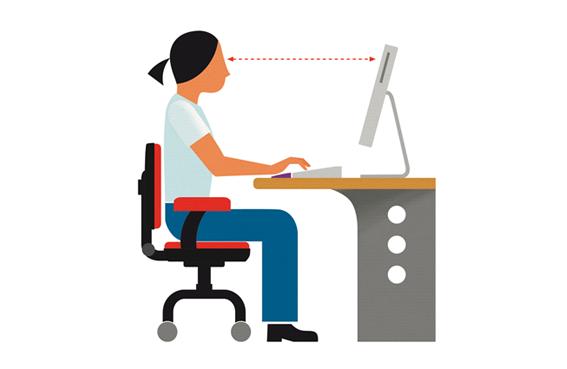 Postura correcta ordenador